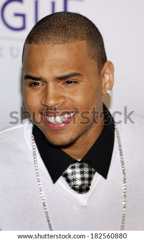 Chris Brown at Clive Davis Pre-Grammy Party, Beverly Hilton Hotel, Los Angeles, CA, February 09, 2008 - stock photo