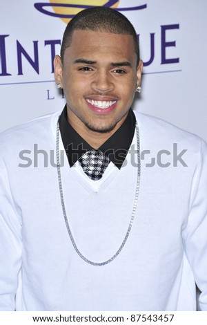 Chris Brown at music mogul Clive Davis' annual pre-Grammy party at the Beverly Hilton Hotel. February 9, 2008  Los Angeles, CA Picture: Paul Smith / Featureflash - stock photo