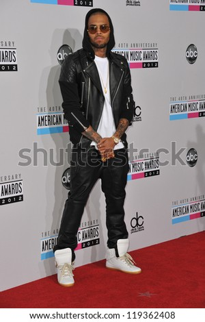 Chris Brown at the 40th Anniversary American Music Awards at the Nokia Theatre LA Live. November 18, 2012  Los Angeles, CA Picture: Paul Smith