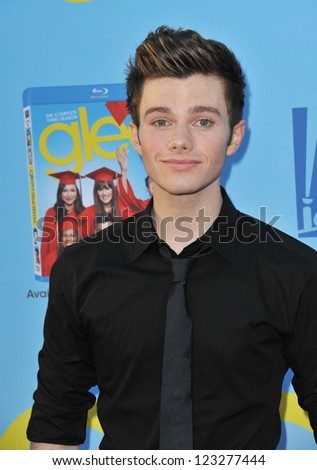 "Chris Colfer at the season four premiere of ""Glee"" at Paramount Studios, Hollywood. September 12, 2012  Los Angeles, CA Picture: Paul Smith - stock photo"