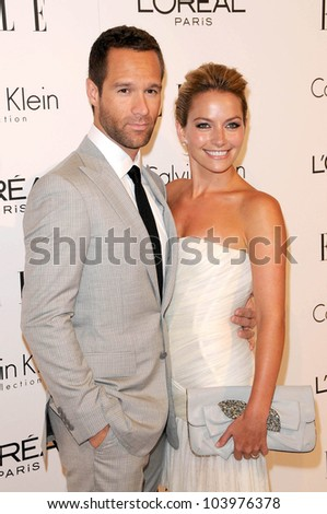 Chris Diamantopoulos and Becki Newton at the 16th Annual Elle Women in Hollywood Tribute Gala. Four Seasons Hotel, Beverly Hills, CA. 10-19-09