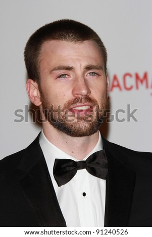 Chris Evans at the LACMA Art + Film Gala Honoring Clint Eastwood and John Baldessari, LACMA, Los Angeles, CA 11-05-11