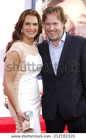 "Chris Henchy and Brooke Shields at the Los Angeles premiere of ""The Campaign"" held at the Grauman's Chinese Theater in Los Angeles, United States on August 2, 2012."