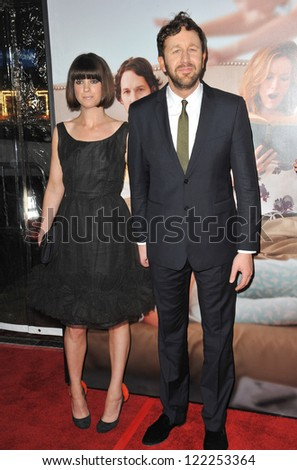 "Chris O'Dowd & wife Dawn Porter at the world premiere of his movie ""This Is 40"" at Grauman's Chinese Theatre, Hollywood. December 12, 2012  Los Angeles, CA Picture: Paul Smith - stock photo"