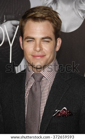 "Chris Pine at the Los Angles Premiere of ""This Means War"" held at the Grauman's Chinese Theater, California, United States on February 8, 2012."