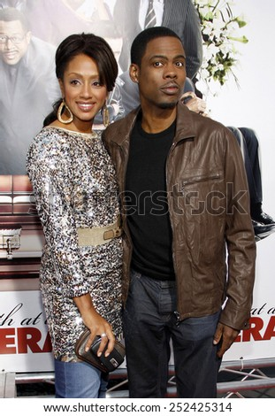"""Chris Rock and Malaak Compton at the World Premiere of """"Death At A Funeral"""" held at the Arclight Cinerama Dome in Hollywood, California, United States on April 12, 2010.  - stock photo"""