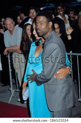 Chris Rock and wife Malaak at premiere of BAD COMPANY, NY 6/4/2002