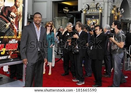 Chris Tucker at RUSH HOUR 3 Premiere, Mann's Grauman's Chinese Theatre, Los Angeles, CA, July 30, 2007
