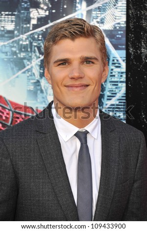 "Chris Zylka at the world premiere of his movie ""The Amazing Spider-Man"" at Regency Village Theatre, Westwood. June 29, 2012  Los Angeles, CA Picture: Paul Smith / Featureflash - stock photo"