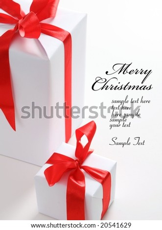 Chrismas box (easy to remove the text) - stock photo