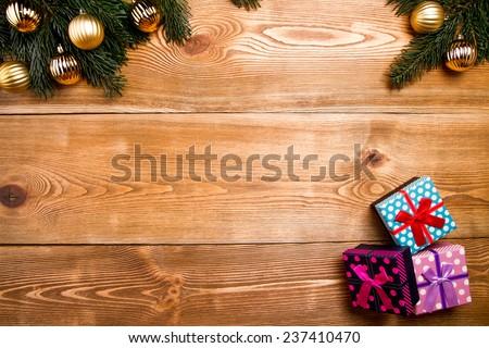 Chrismas gift  - stock photo