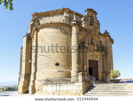 Christ Chapel of Remedies. Briones village, La Rioja, Spain