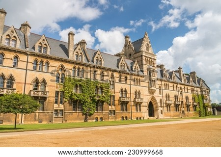 Christ church cathedral in Oxford - stock photo