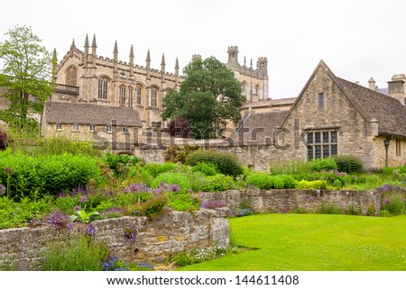 Christ Church College and War Memorial Garden. Oxford, Oxfordshire, England, Europe - stock photo