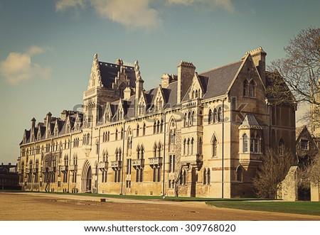 Christ Church College, Oxford, Oxfordshire UK  - stock photo