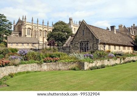 Christ Church College War Memorial Garden. Oxford, the UK - stock photo