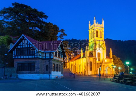 Christ Church in Shimla is the second oldest church in North India