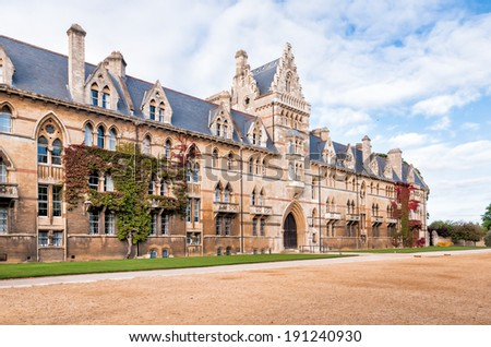 Christ Church Oxford University, The Meadow Building - stock photo