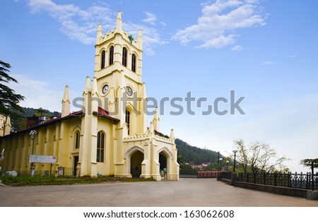 Christ Church, Shimla, Himachal Pradesh, India - stock photo