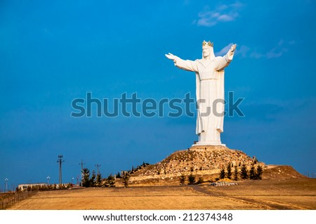 Christ the King Monument - stock photo