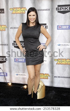 Christa Campbell at the Spike TV's 2011 Scream Awards held at the Gibson Amphitheatre in Universal City on October 15, 2011. - stock photo