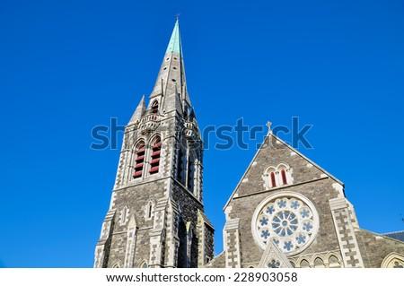 Christchurch, New Zealand - stock photo