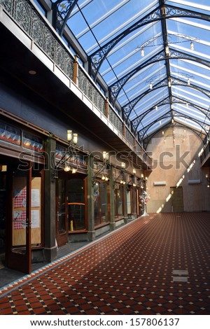 CHRISTCHURCH, NEW ZEALAND - JULY 01, 2013: Christchurch Earthquake Rebuild - The new Tannery Victorian style shopping arcade is now open for business on July 01, 2013 in Christchurch.