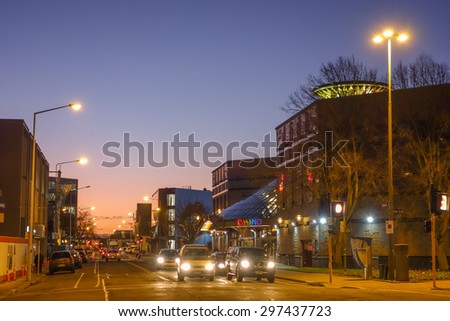 CHRISTCHURCH, NEW ZEALAND - JUNE 16, 2015: Christchurch Casino at night