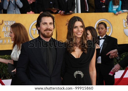 Christian Bale at the 17th Annual Screen Actors Guild Awards, Shrine Auditorium, Los Angeles, CA. 01-30-11