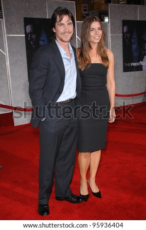 "CHRISTIAN BALE & wife SIBI BLAZIC at the world premiere, in Hollywood, of his new movie ""The Prestige"". October 17, 2006  Los Angeles, CA Picture: Paul Smith / Featureflash"