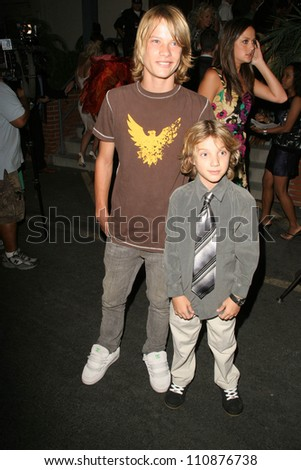 Christian Berney and Jacob Short at the premiere of ANNA NICOLE. Fox Studios, Los Angeles, CA. 08-30-07 - stock photo