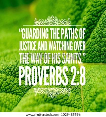 Christian Bible Verse Proverbs Leaf Background Stock Photo (Edit Now ...