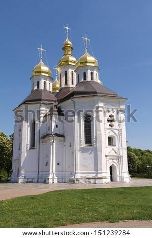 Christian church in Ukraine - stock photo