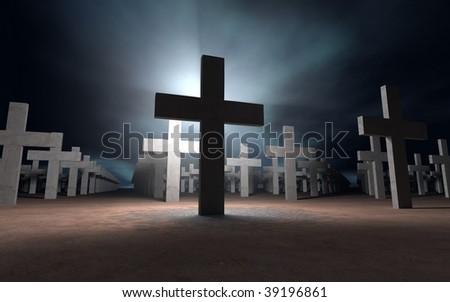Christian Cross - stock photo