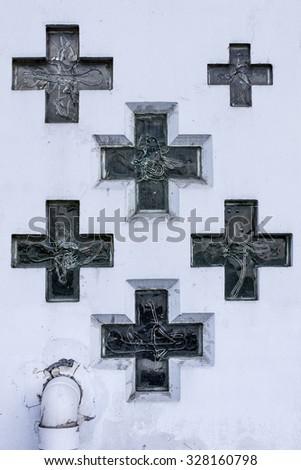 Christian crosses - stock photo