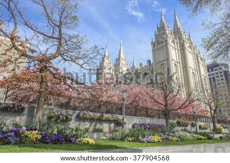 Christian restorationist church in Salt Lake City. - stock photo