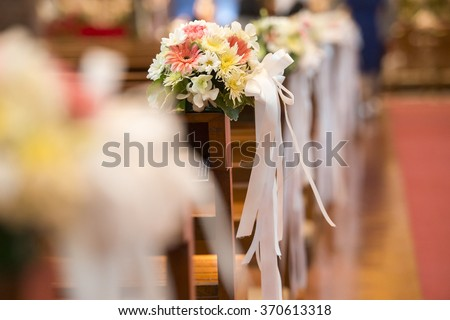 Christian wedding flower and decoration  - stock photo