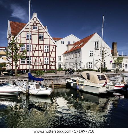 Christianshavn - part of Copenhagen in Denmark - stock photo