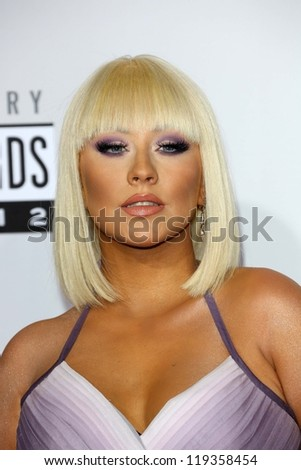 Christina Aguilera at the 40th American Music Awards Arrivals, Nokia Theatre, Los Angeles, CA 11-18-12