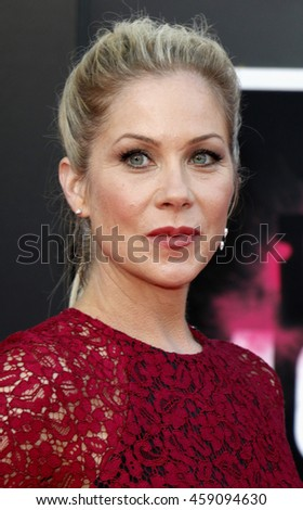 Christina Applegate at the Los Angeles premiere of 'Bad Moms' held at the Mann Village Theater in Westwood, USA on July 26, 2016.