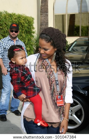 Christina Milian and daughter Violet at the 2nd Annual Rally For Kids With Cancer Scavenger Cup Start Your Engines Brunch, Roosevelt Hotel, Hollywood, CA. 10-23-10