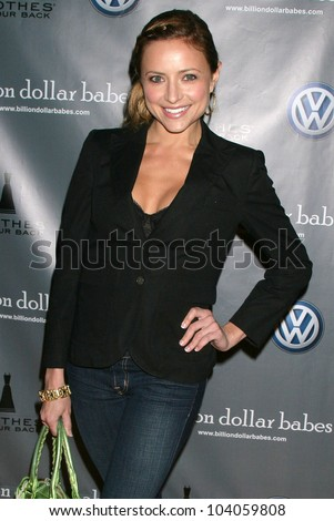 Christine Lakin  at the Clothes Off Our Back + Billion Dollar Babes iconic shopping event Kick Off VIP Party, Petersen Automotive Museum, Los Angeles, CA.  11-05-09