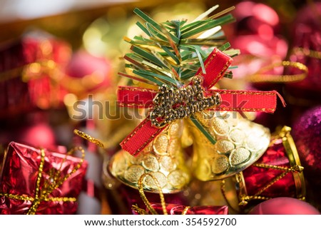 Christmas a decoration with on wooden background