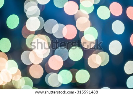 Christmas  abstract background with bokeh lights - stock photo