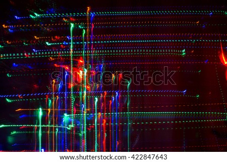 Christmas abstract light patterns