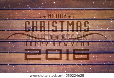Christmas and happy new year 2016, wood texture background