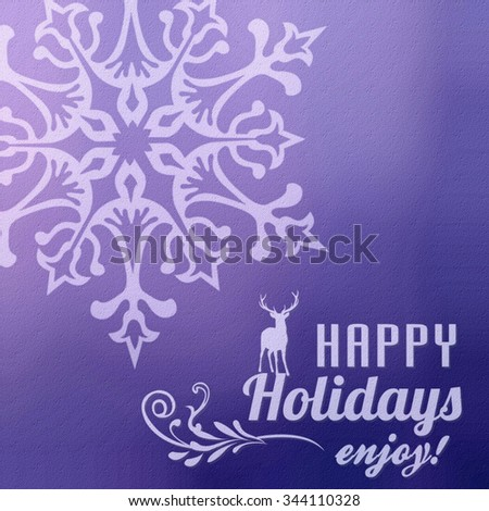 Christmas and New Year  background with snowflakes. - stock photo