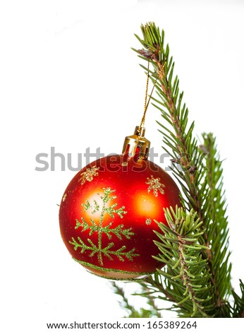 Christmas and New Year ball isolated on white background