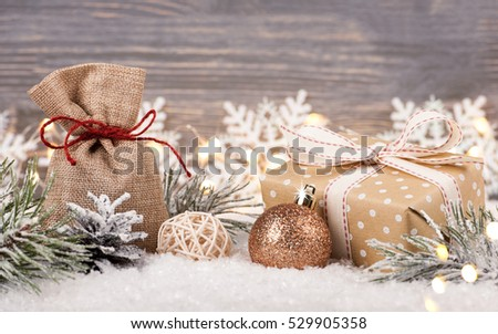 Christmas and New Year decoration and gift