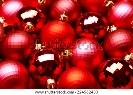 Christmas and New Year Decoration. Baubles Background for Christmas Tree - stock photo